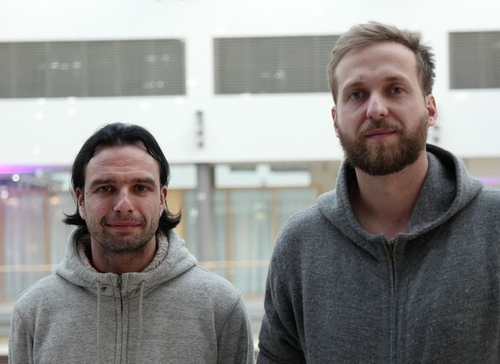 Jan Krissler alias Starbug (l.) und Julian Albrecht