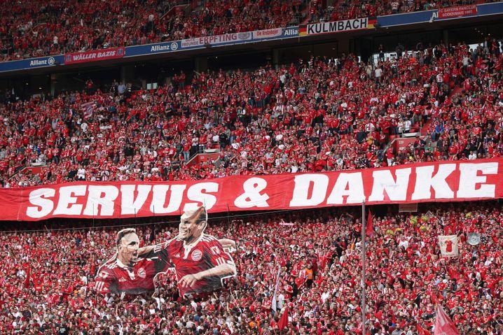 Bayern-Fans vor dem Anpfiff