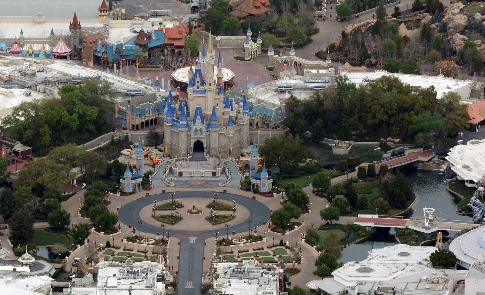Disney's Magic Kingdom theme park sits empty after it closed in an effort to combat the spread of coronavirus disease (COVID-19) in Orlando
