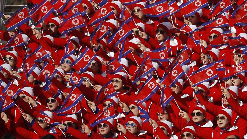 Nordkoreas Jubelteam