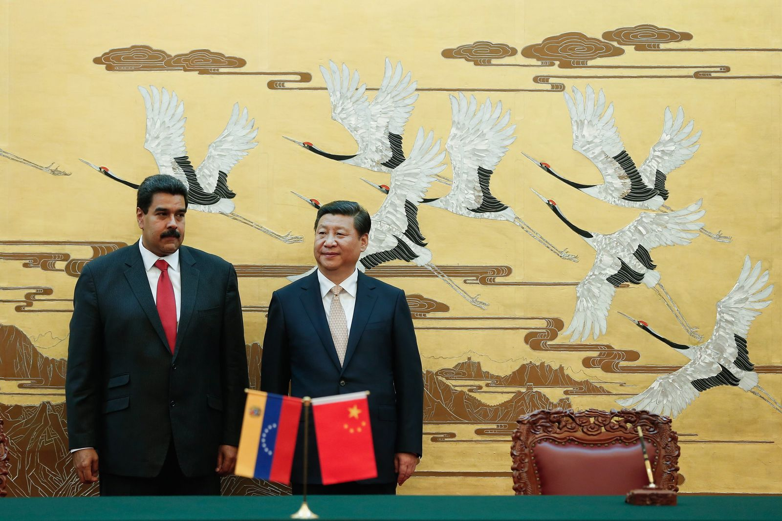 Venezuelas President visits China