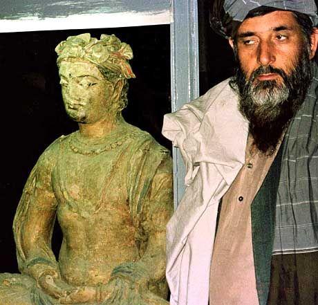 Eine Buddha-Statue aus dem mittlerweile zerstörten Nationalmuseum in Kabul