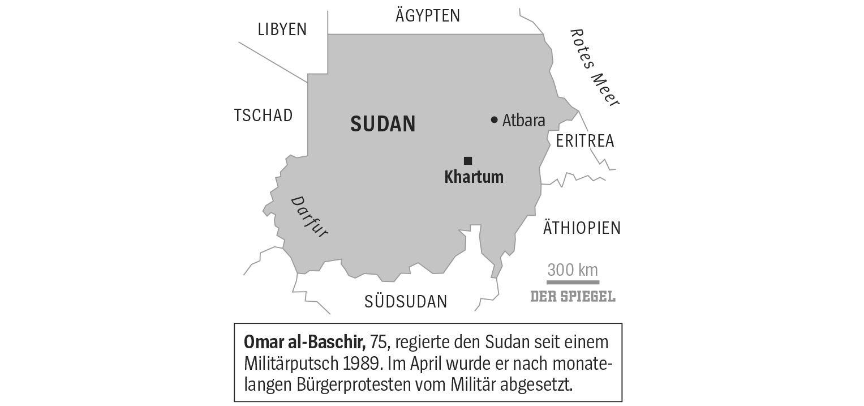 Sudan Kriesengebiet Karte