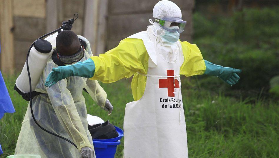 Desinfektion nach Ebola-Einsatz