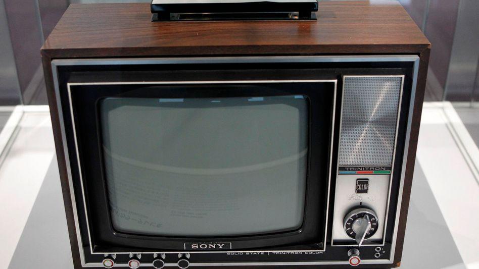 Ein alter Röhrenfernseher von Sony (Symbolbild)