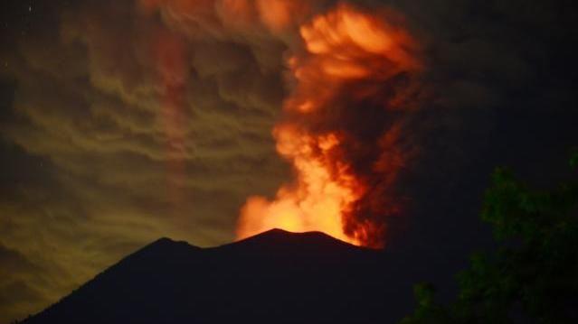 Mount Agung auf Bali