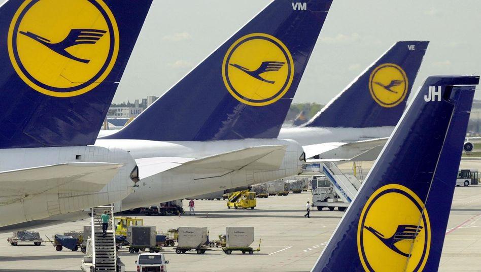 Lufthansa-Maschinen in Frankfurt am Main (Archiv): Die Gewerkschaft UFO droht mit Streik