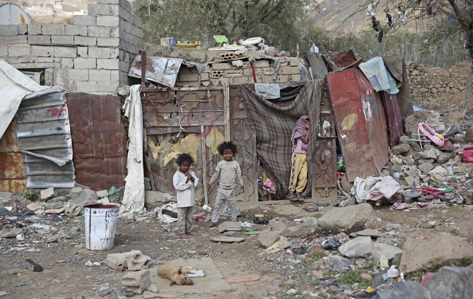 Vertriebene Kinder im Jemen