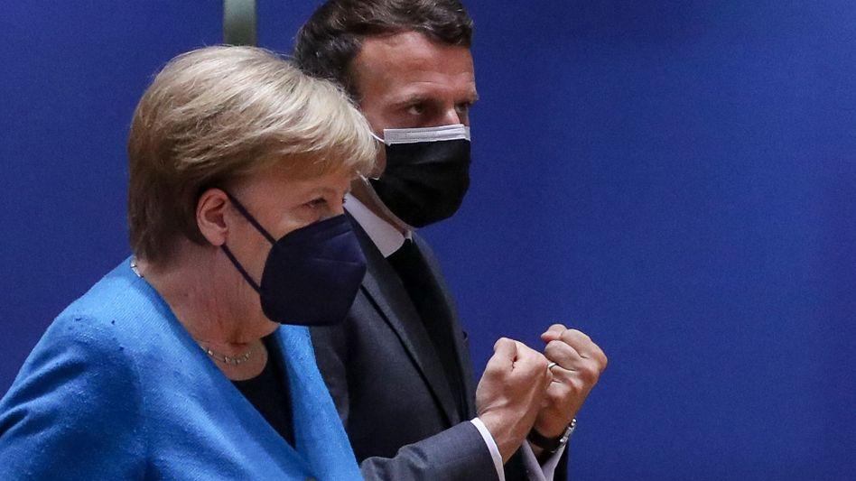 Merkel und Macron im Mai in Brüssel