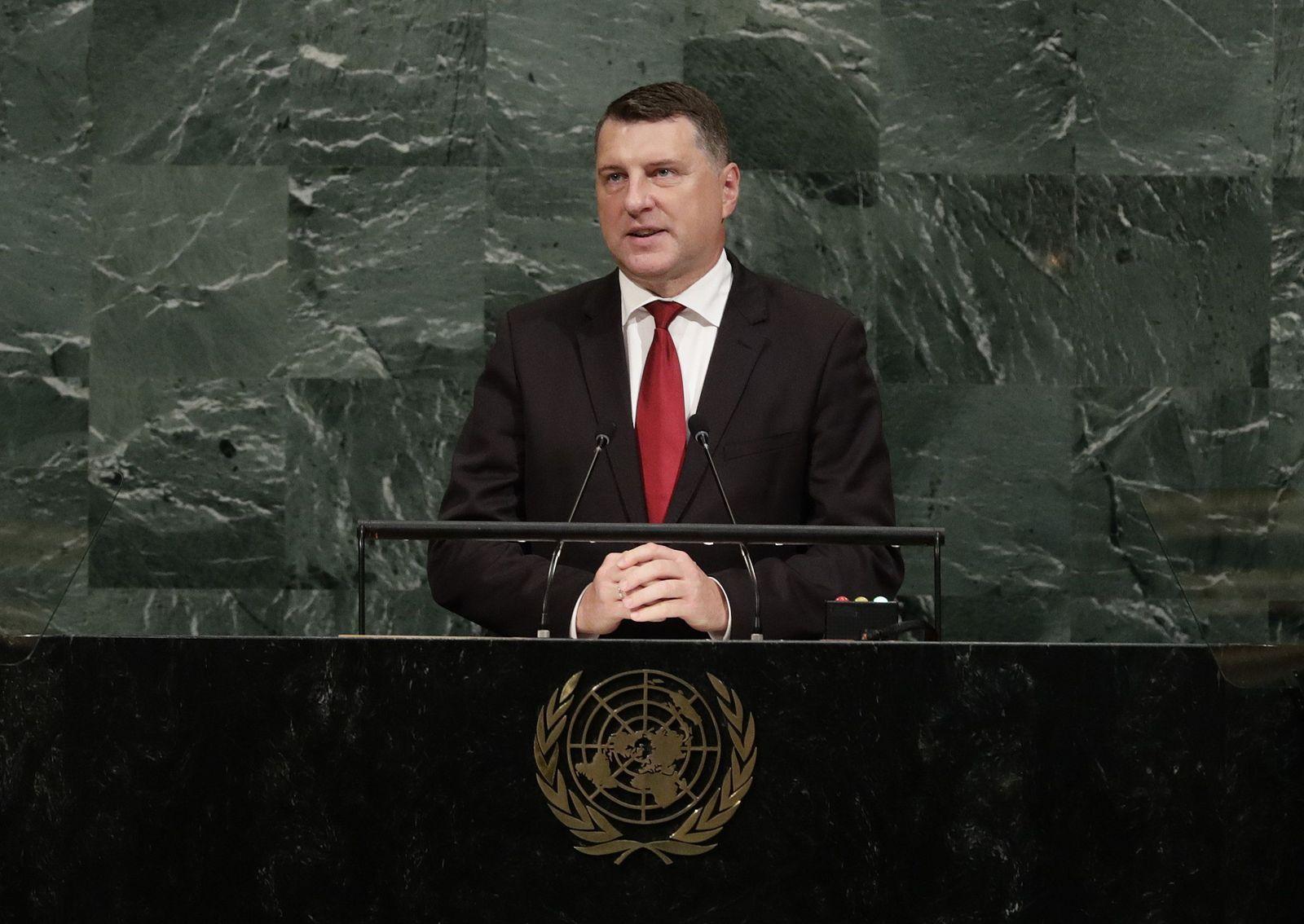 UN-Generalversammlung Raimonds Vejonis