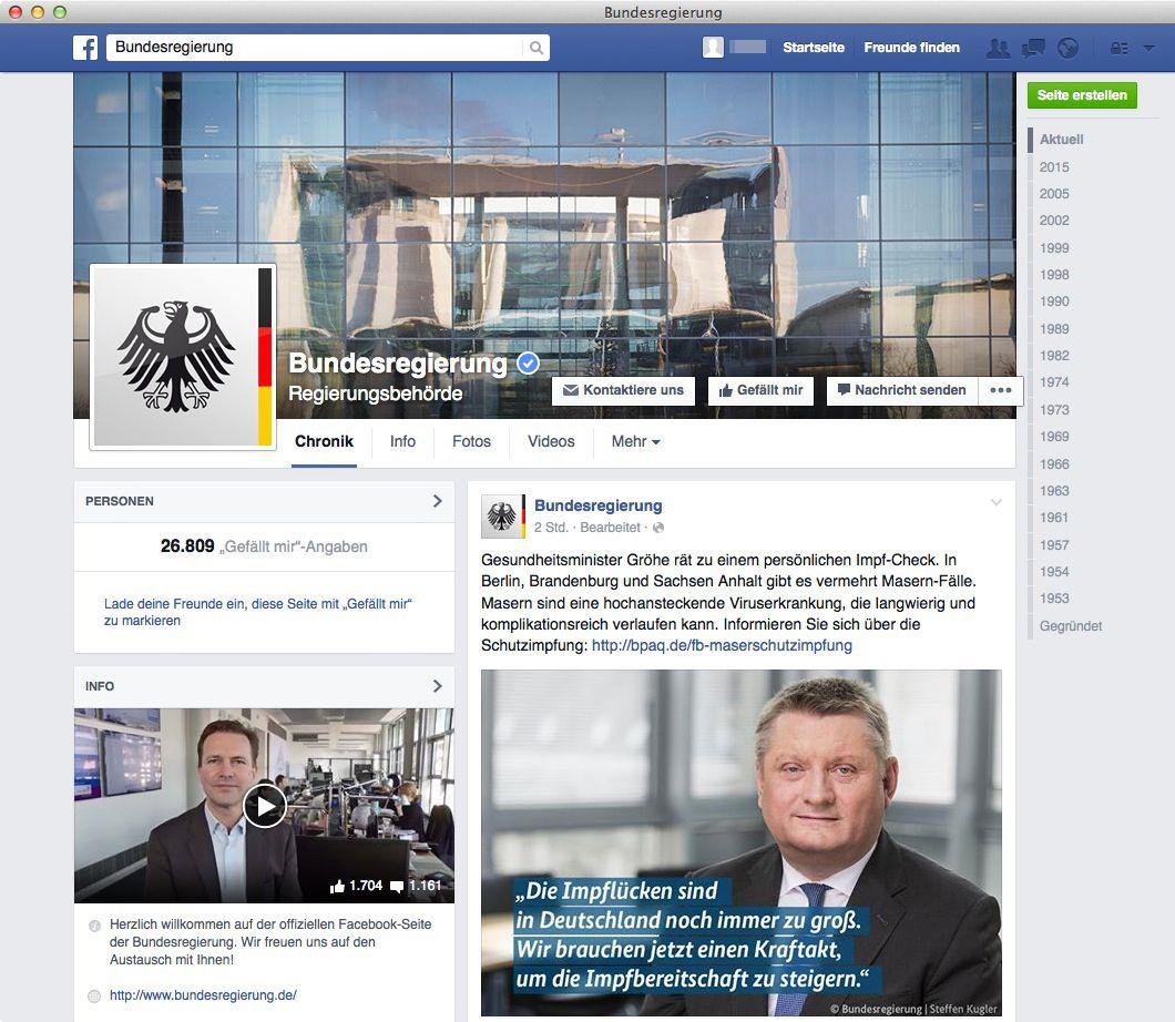 NUR ALS ZITAT Screenshot Facebook Bundesregierung
