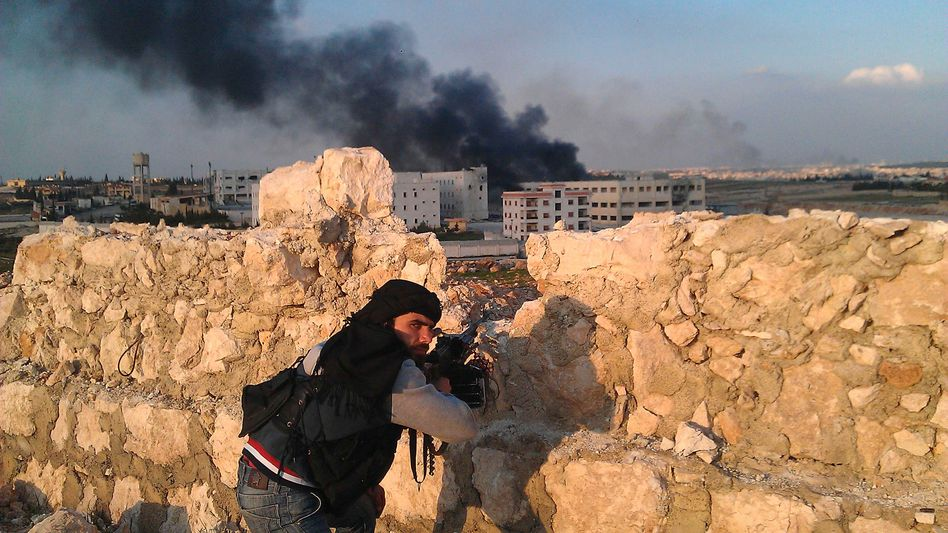 A Free Syrian Army fighter: Rebels are demanding more support from the West.