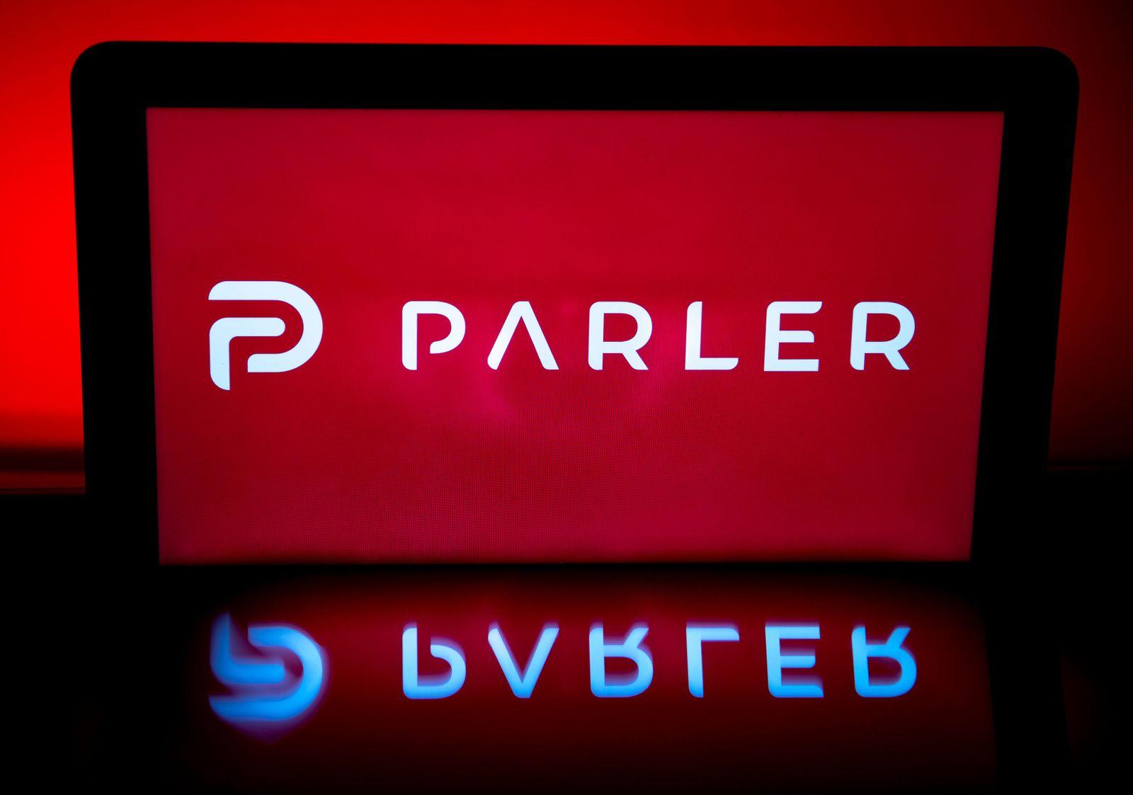Conservative social media application Parler goes offline, Paris, France - 11 Jan 2021