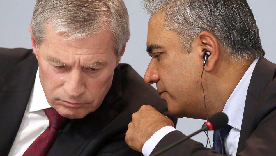 Scheidende Deutsche-Bank-Chefs Jain, Fitschen: Gescheitert