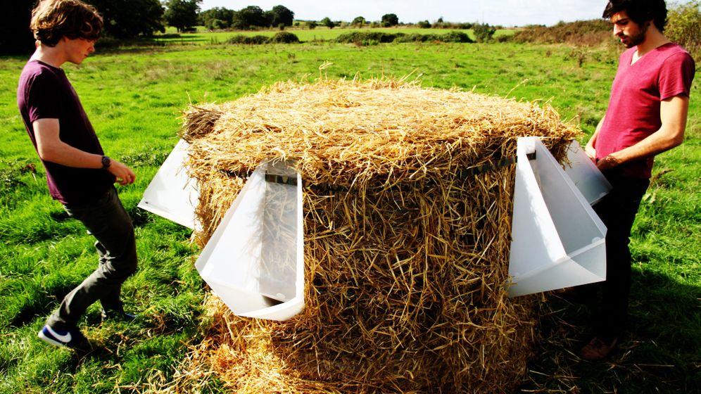 Idee für Open-Air-Veranstaltungen: Das Stroh-Klo