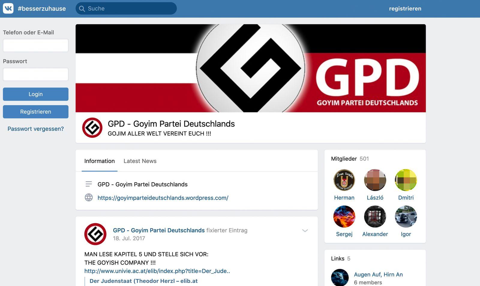 GPD - Goyim Partei Deutschlands SCREENSHOT
