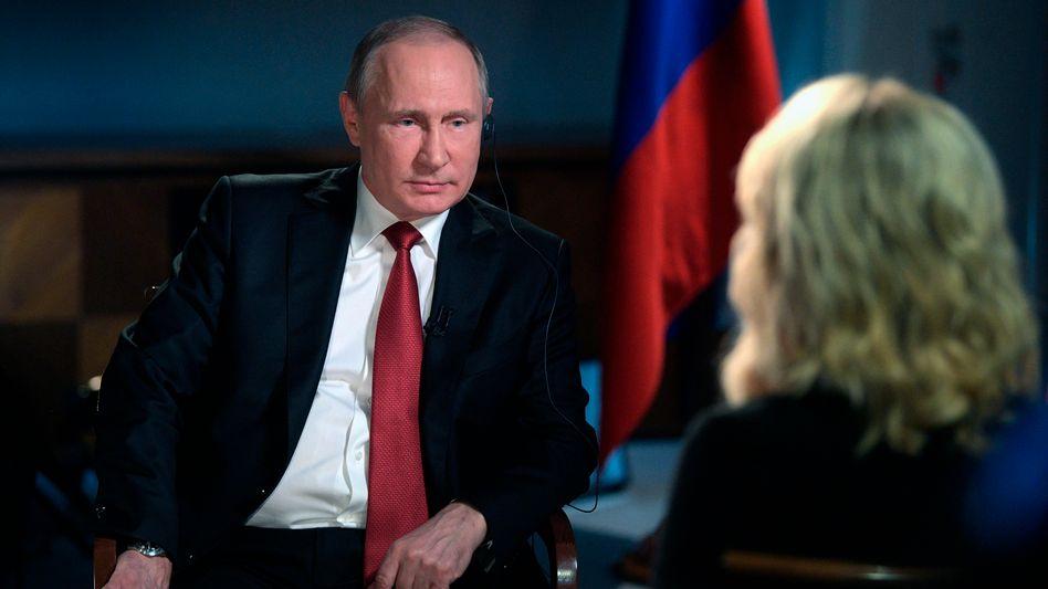 Präsident Putin, US-Journalistin Kelly