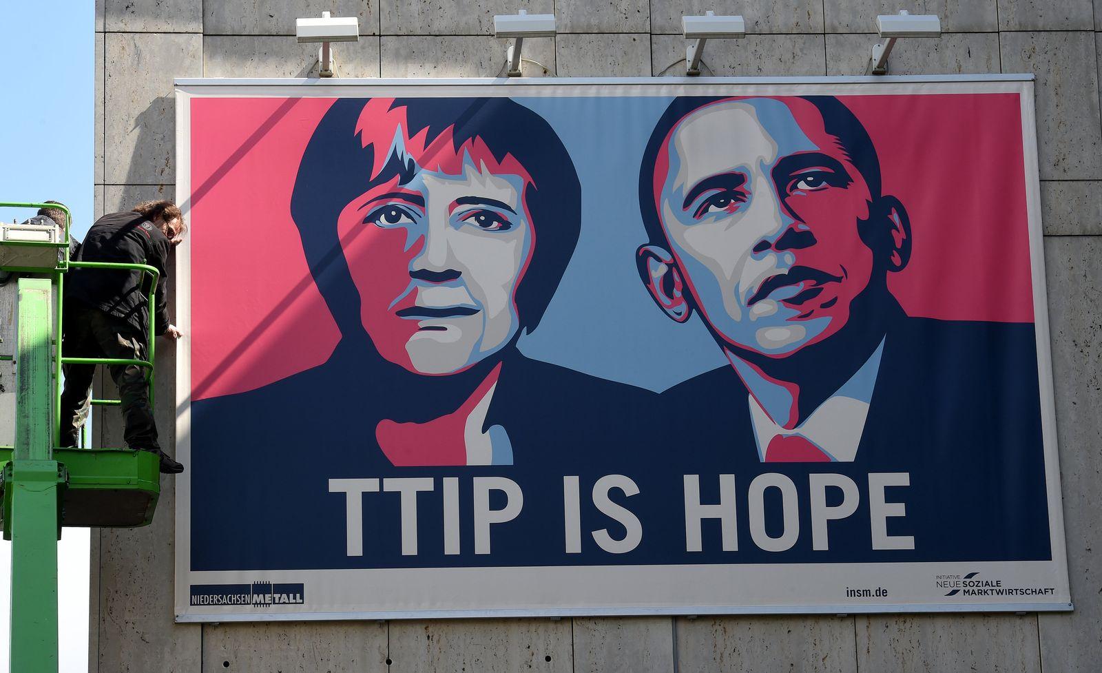 TTIP Plakat Obama Merkel