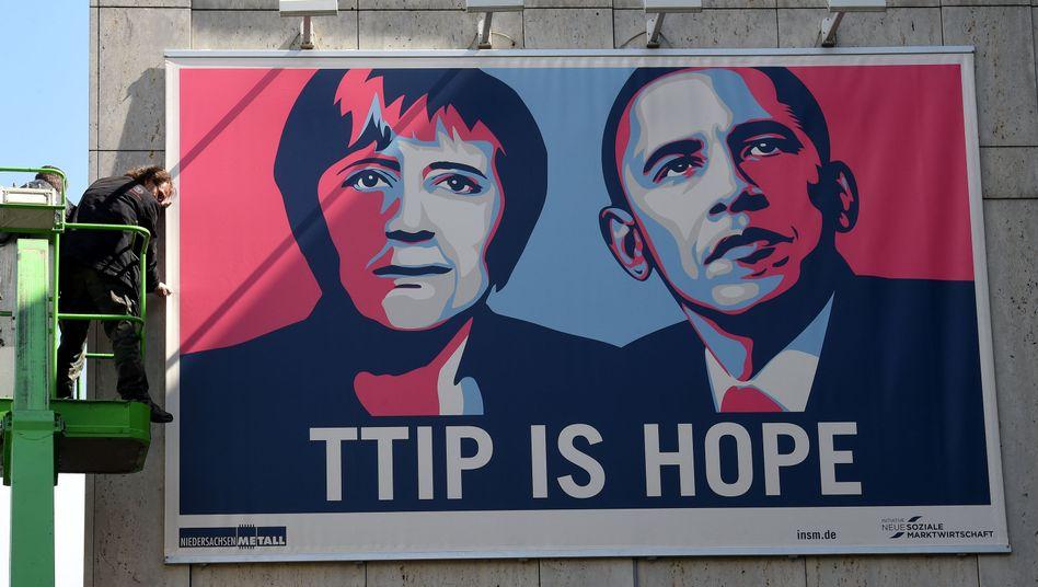 Werbung für TTIP