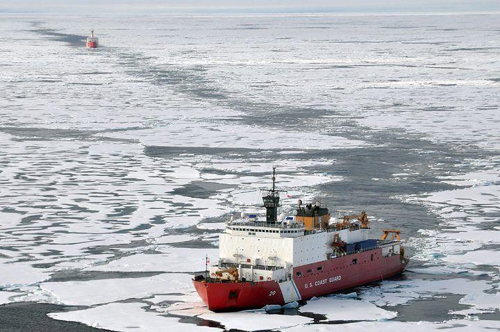 US-Forschungsschiff «Healy» unterwegs in die Arktis