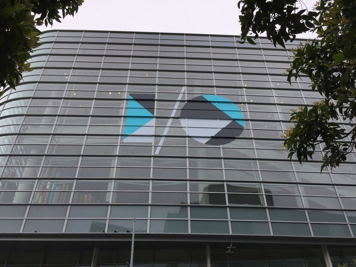Fensterfront des Moscone Center: Hier findet die Konferenz statt