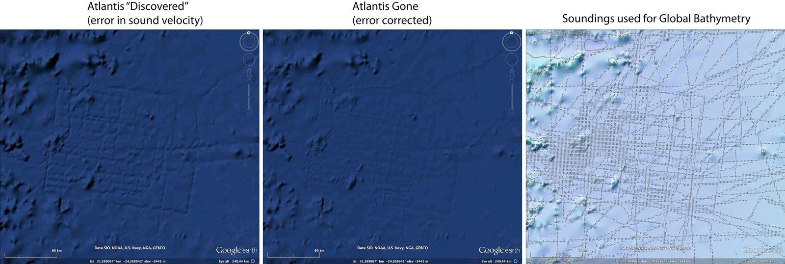 EINMALIGE VERWENDUNG Google Earth / Atlantis / WISSENSCHAFT
