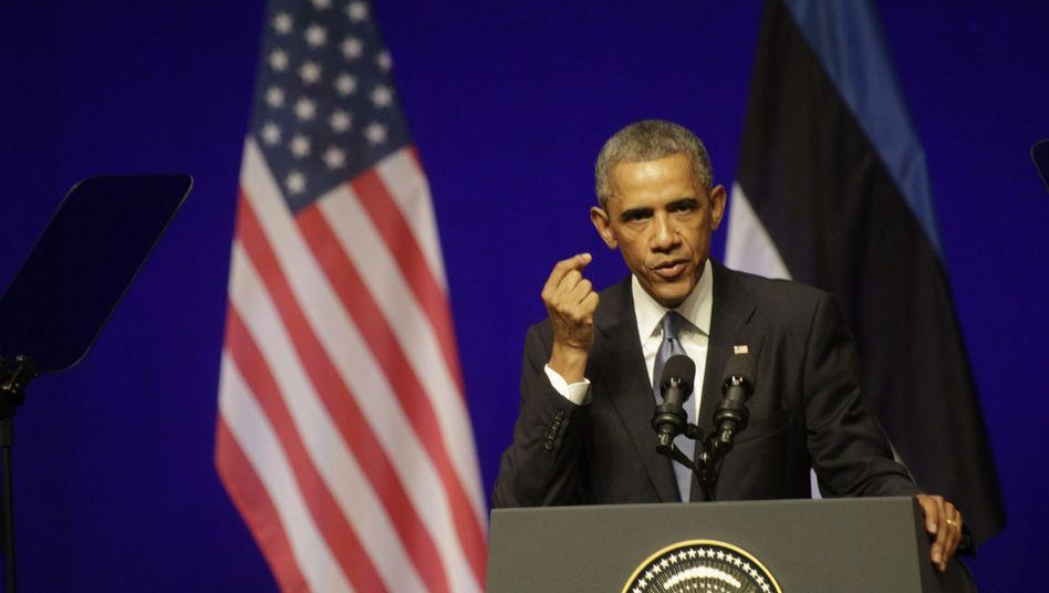US-Präsident Obama (in Tallinn): Ruhmeshalle des Kalten Krieges