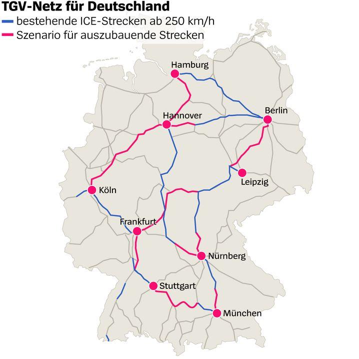 Tgv Netz Fur Den Ice In 2 5 Stunden Von Berlin Nach Munchen Der
