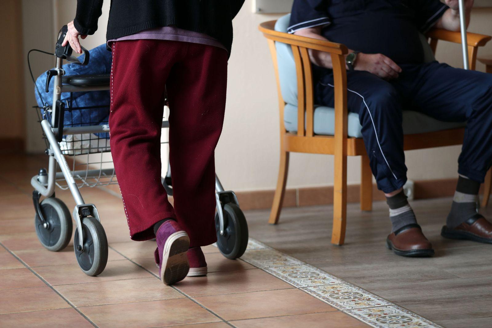Bewohner im Seniorenheim
