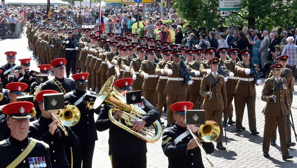 Britische Soldaten 2015 in Bergen