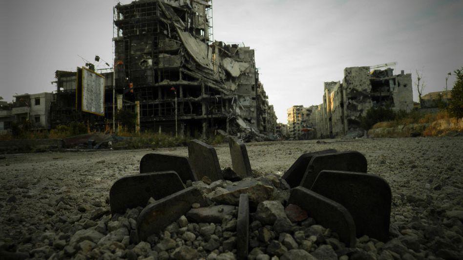 Zerstörtes Homs: USA sehen rote Linie überschritten