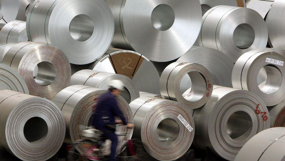 Stahlproduktion in Salzgitter (Archivbild)