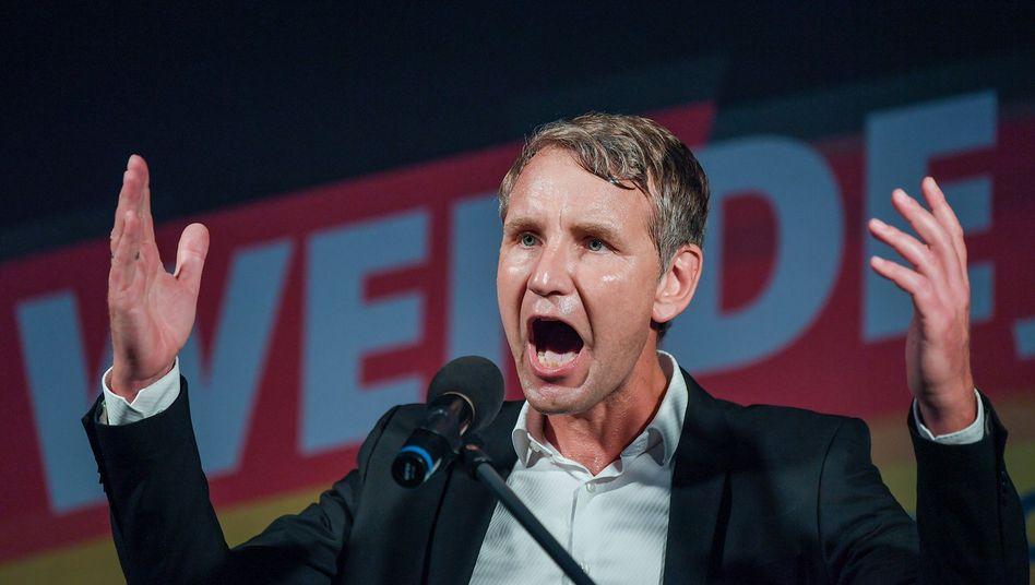 Königs Wusterhausen: Björn Höcke spricht auf dem Wahlkampfabschluss der AfD in Brandenburg