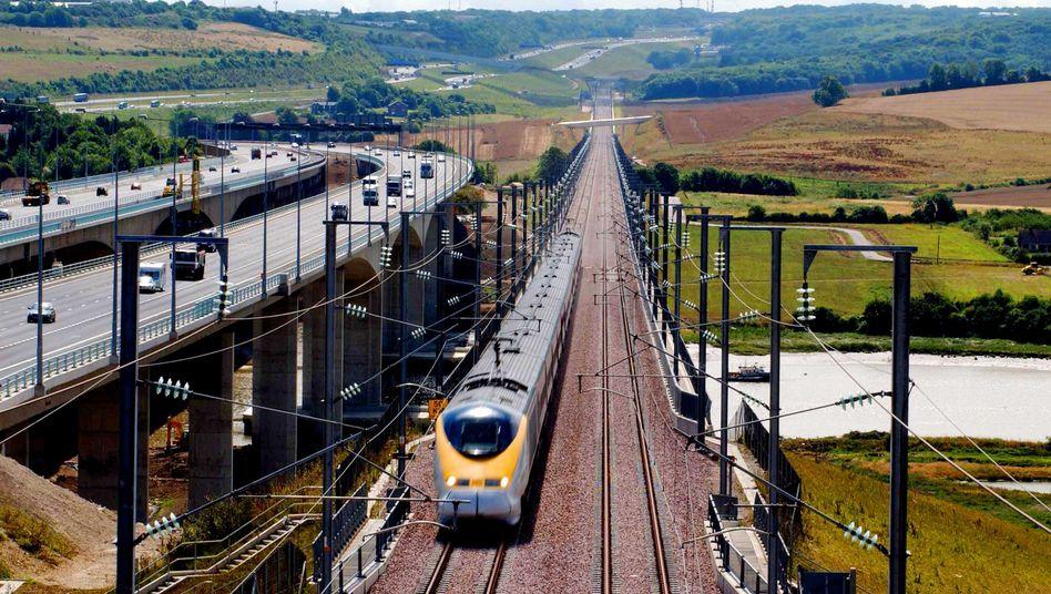 Eurostar-Zug in Südengland: Künftig fährt der Schnellzug bis Frankfurt am Main