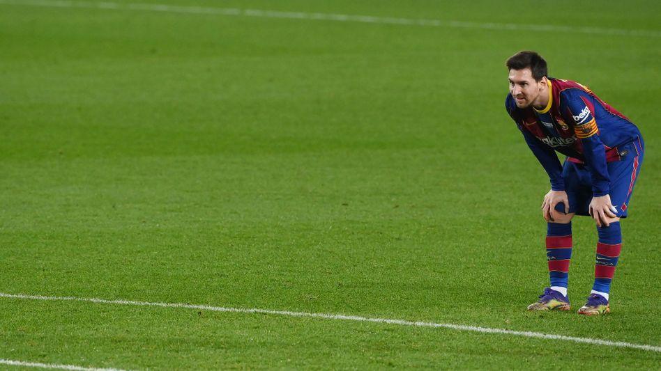 Lionel Messi holte den Rekord, aber auch nur ein Unentschieden mit seinem FC Barcelona
