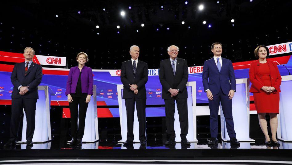 Die Präsidentschaftskandidaten der US-Demokraten: Da waren es nur noch sechs