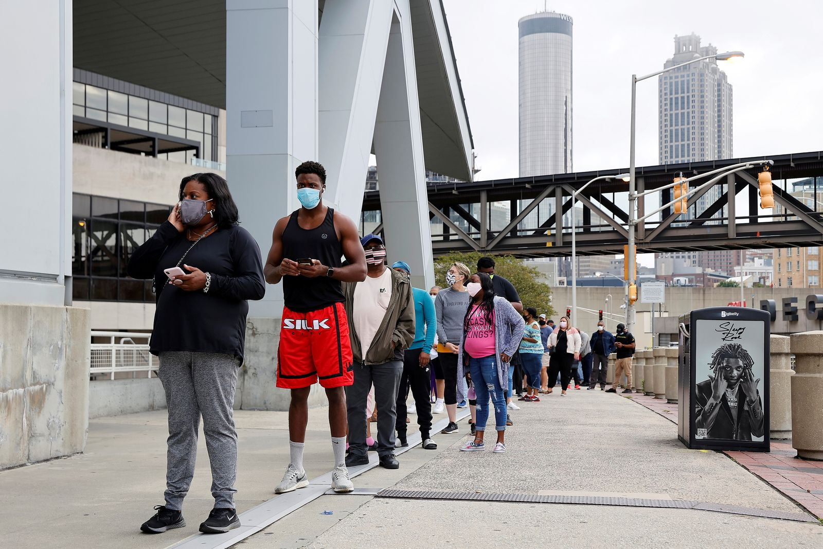 FILE PHOTO: Hawks arena in Atlanta set to be the nation's largest polling place amid COVID fears