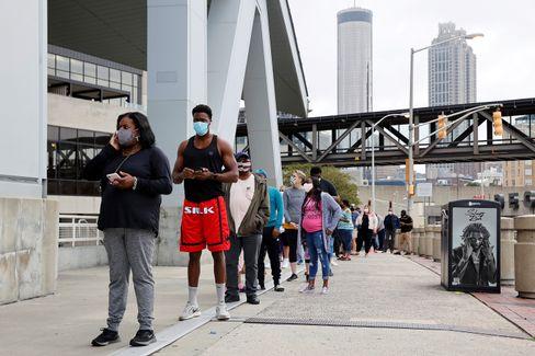"""Geduld für die Demokratie: """"Early voting""""-Frühwähler in Atlanta"""