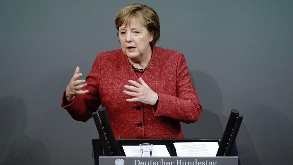 Angela Merkel am Mittwoch im Bundestag: Eindringlicher Appell