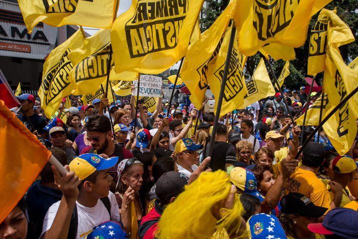 Regierungsgegner in Caracas