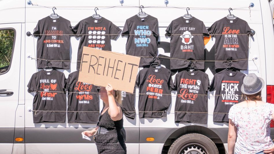 Großdemonstration gegen Corona-Auflagen in Berlin, 1. August 2020