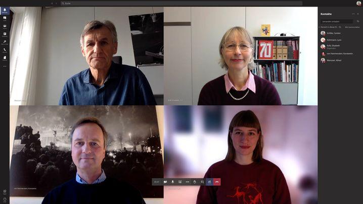 Das Team der CHRONIK 2020: Alfred Weinzierl, Elisabeth Kolb, Konstantin von Hammerstein, Lynn Dohrmann