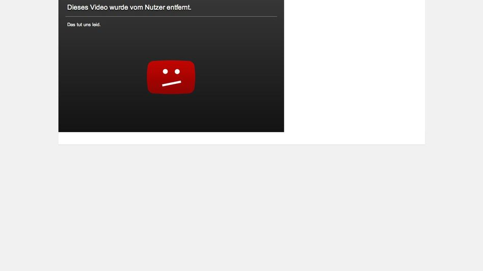 """Entferntes Video auf YouTube: """"Nehmt den Quatsch SOFORT runter, Post von Universal/Anwalt ist unterwegs"""""""