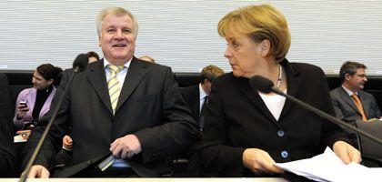 CSU-Chef Seehofer, CDU-Chefin Merkel: Positionen angepasst