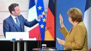 Merkel und Macron rechtfertigen europäische Impfstoffbeschaffung