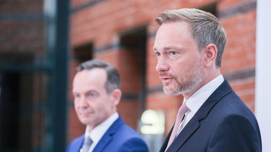 FDP-Parteichef Christian Lindner (r.) und sein Generalsekretär Volker Wissing