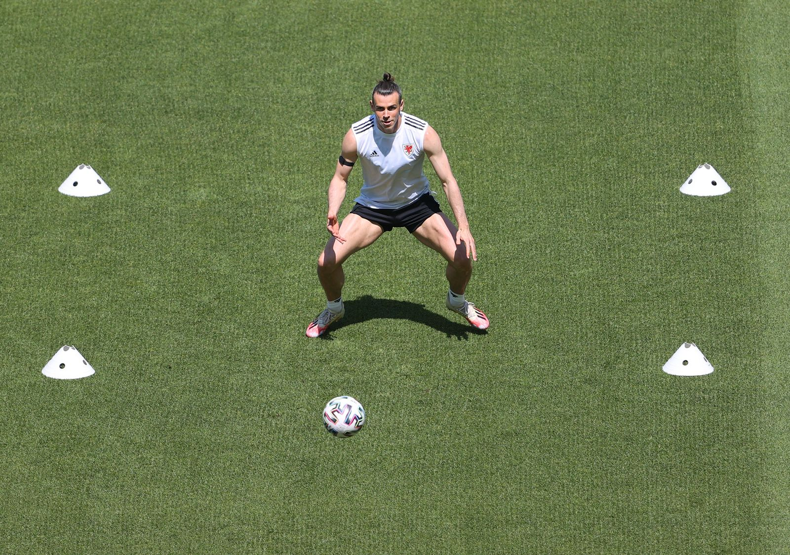 Fußball EM - Training Wales