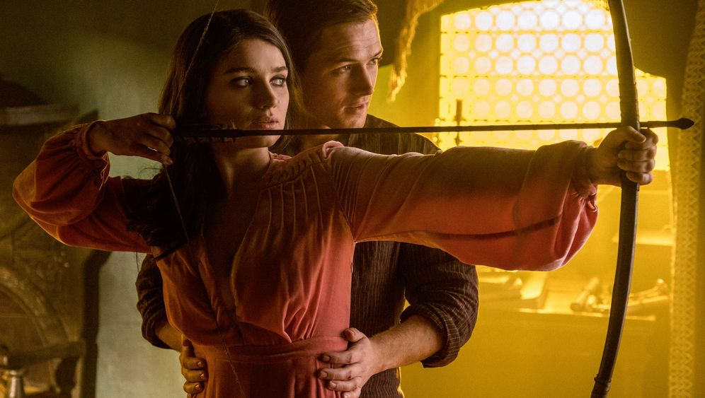 """""""Robin Hood"""": Agitator mit Pfeil und Bogen"""