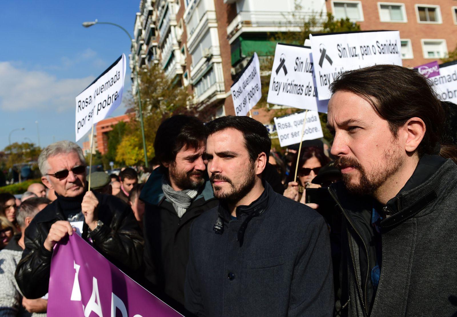 Demo Madrid Energiearmut