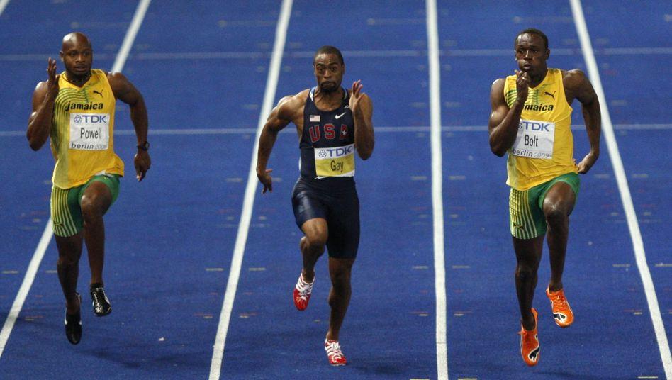 Sprintstars Powell (li.) und Gay: Positiv auf Doping getestet